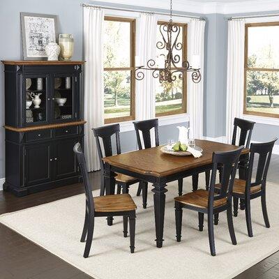 Home Styles Americana 8 Piece Dining Set - Finish: Black