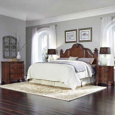 Santiago Panel 4 Piece Bedroom Set Size: King/California King