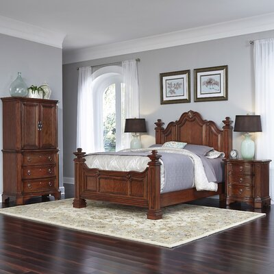 Santiago Platform 3 Piece Bedroom Set Size: Queen