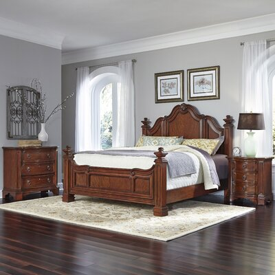 Santiago Platform 3 Piece Bedroom Set Size: King