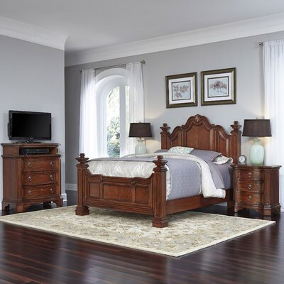 Santiago Panel 4 Piece Bedroom Set Size: Queen