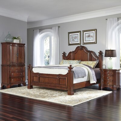 Santiago Panel 3 Piece Bedroom Set Size: King