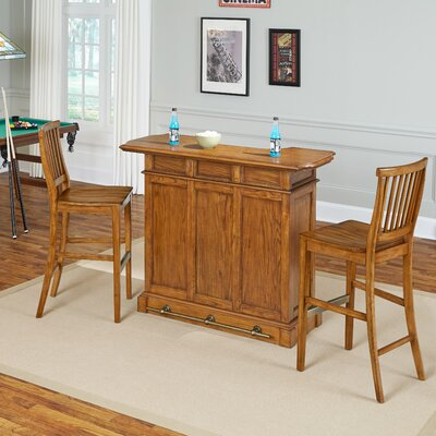 Americana Home Bar Set Finish: Brown