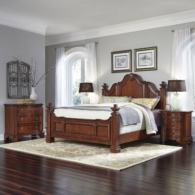 Santiago Panel 4 Piece Bedroom Set Size: King