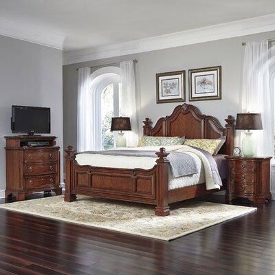 Santiago Panel 4 Piece Bedroom Set Size: King
