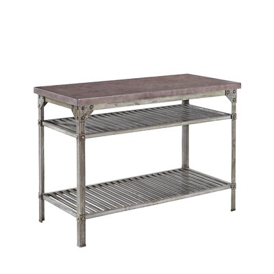 Urban Style Prep Table with Concrete Top