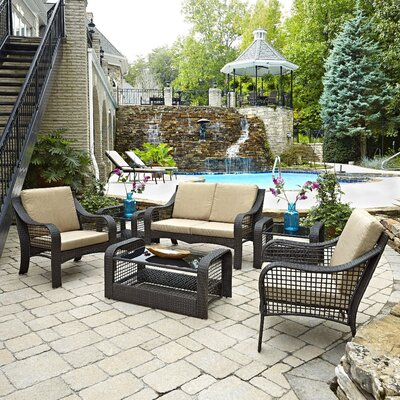 Lanai Breeze 6 Piece Seating Group with Cushions