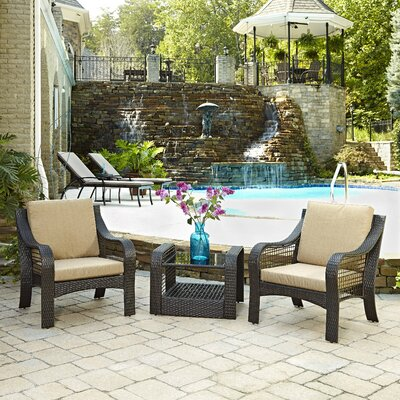 Lanai Breeze 3 Piece Seating Group with Cushions
