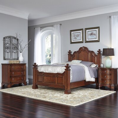 Santiago Panel 3 Piece Bedroom Set Size: Queen