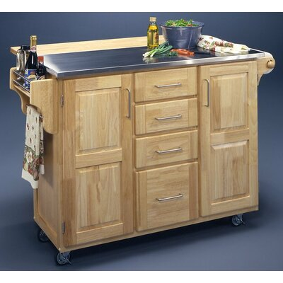 Buy Low Price Home Styles Kitchen Cart Stainless Steel Top Kitchen Cart Mart