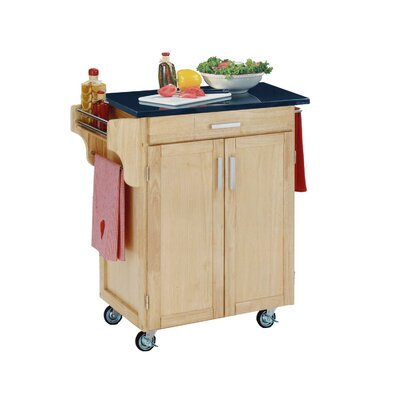 Cheap Home Styles Create-a-Cart Small Kitchen Cart in Natural with Granite Top (HO2158)