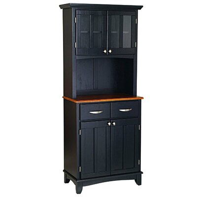 Home Styles China Cabinet - Top Material: Cottage Oak, Finish: Black at Sears.com