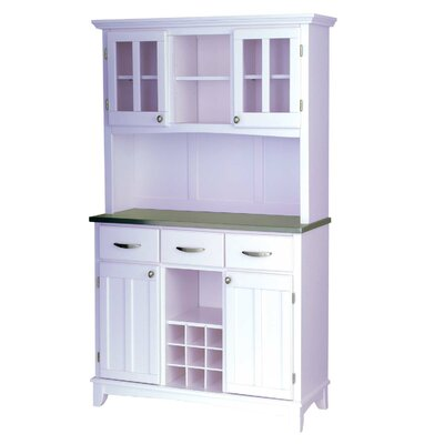 Home Styles China Cabinet - Top Material: Natural Wood, Finish: Cottage Oak at Sears.com