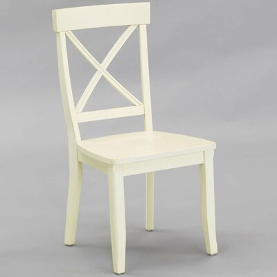 Financing Side Chair (Set of 2) Finish: Cream...