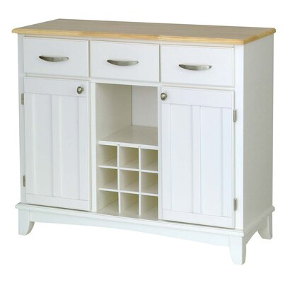 Home Styles Large White Base and Natural Wood Top Buffet at Sears.com