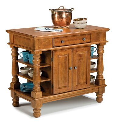 Home Styles Kitchen Island in Rich Multi Step Cottage Oak - Kitchen Island - Portable Kitchen Islands Shop