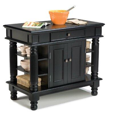 Cheap Home Styles Kitchen Island in Rich Multi Step Ebony (HO2031)