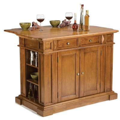 "Home Styles 36.5"" x 49.75"" Kitchen Island in Cottage Oak - Kitchen Island - Portable Kitchen Islands Shop"