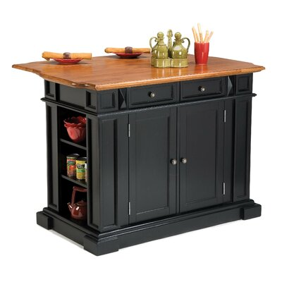 "Home Styles 36"" x 48"" Kitchen Island in Rich Multi Step Ebony - Kitchen Island - Portable Kitchen Islands Shop"