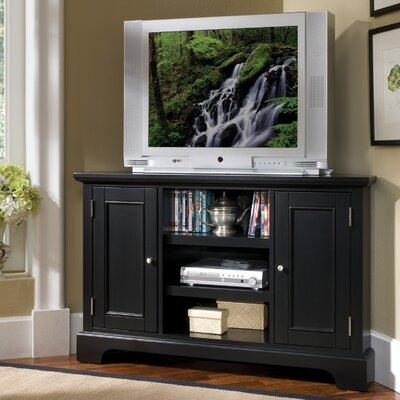 Cheap Home Styles Bedford Corner 50″ TV Stand Finish: Ebony (HO2089_4339357)
