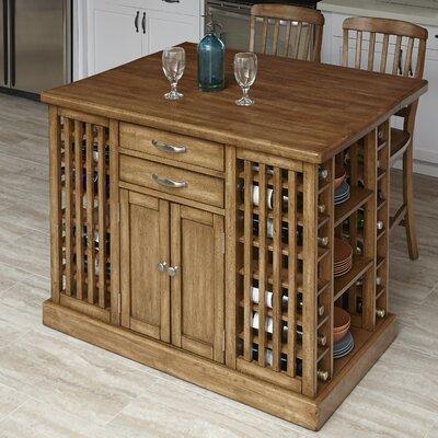 The Vintner 3 Piece Kitchen Island Set