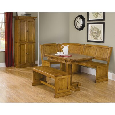 Image of Home Styles Corner Nook With Rectangular Dining Table in Cottage Oak (HO2149)