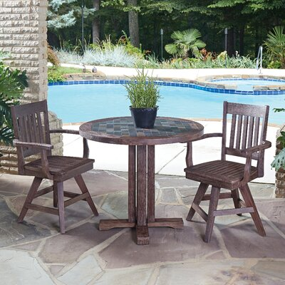 Morocco 3 Piece Dining Set