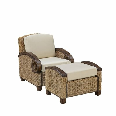 Cabana Banana III Armchair with Ottoman Color: Honey