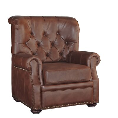 Stationary Club Chair Color: Saddle Brown
