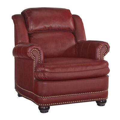 Stationary Club Chair Color: Garnet Red