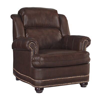 Stationary Club Chair Color: Brown