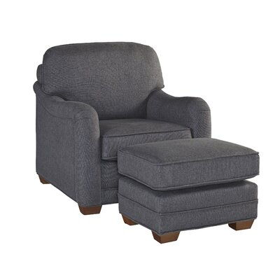 Stationary Armchair and Ottoman Upholstery: Light Gray