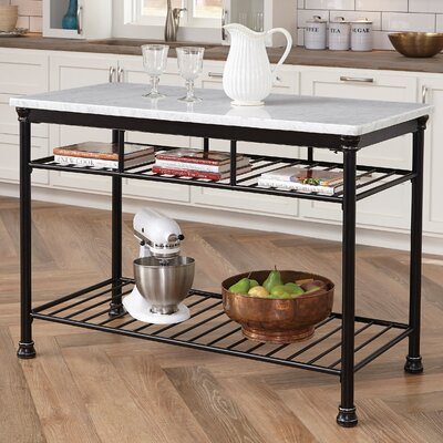 Baton Rouge Kitchen Island Top Material: Marble