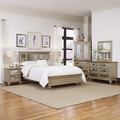 Visions Panel 5 Piece Bedroom Set Size: King