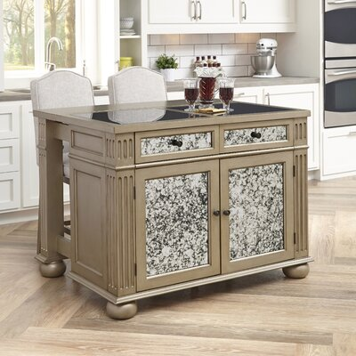 Visions Kitchen Island Set with Granite Top