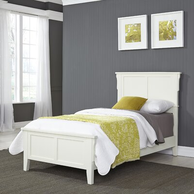 Arts and Crafts Twin Panel Bed Finish: White