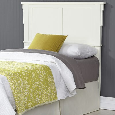Arts and Crafts Twin Panel Headboard Finish: White