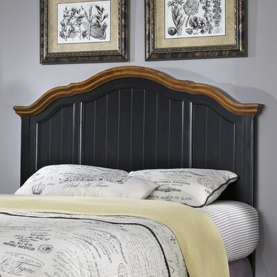 French Countryside Panel Headboard Size: Full / Queen, Finish: Black