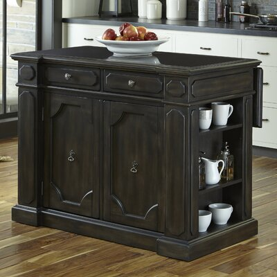 Hacienda Kitchen Island Top Material: Wood