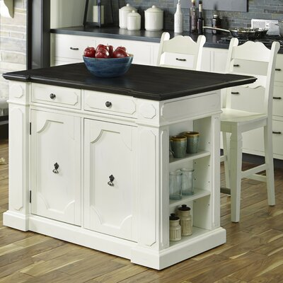 Fiesta Kitchen Island Set Top Material: Wood