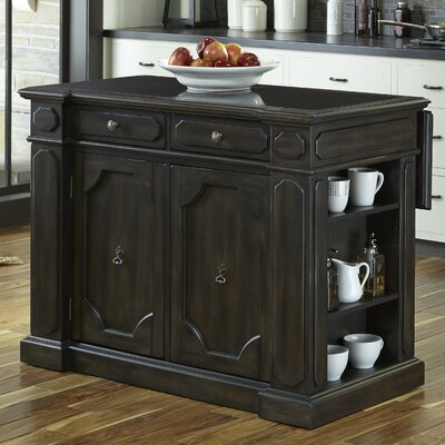 Hacienda Kitchen Island Set Top Material: Wood
