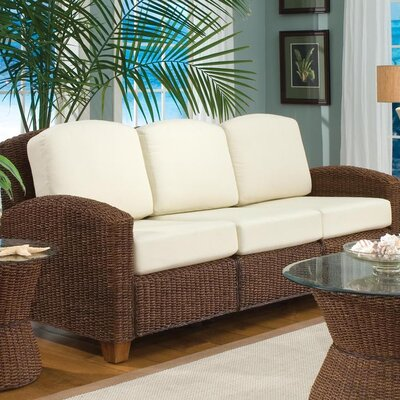 Cabana Banana Sofa with Cushions Upholstery: Cocoa