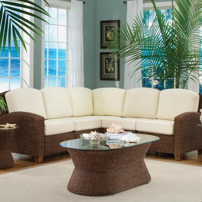 Cabana Banana Sectional Upholstery: Cocoa