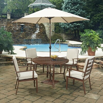 Key West 7 Piece Dining Set with Cushion Table Size: 48 W x 48 D