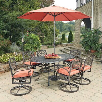 Biscayne 9 Piece Dining Set with Cushion Finish: Rust Bronze