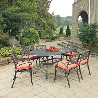Biscayne 7 Piece Dining Set with Cushion Finish: Rust Bronze