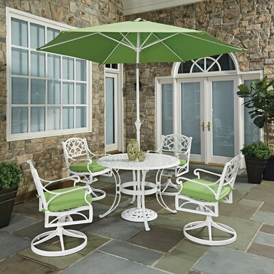 Biscayne 7 Piece Dining Set with Cushion Table Size: 42 W x 42 D