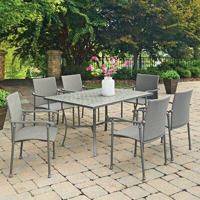 Concrete Tile Dining Set - Product photo
