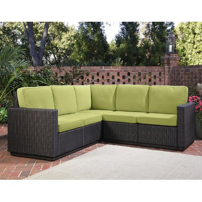 Home Styles Riviera Sectional Sofa with Cushions - Color: Green Apple at Sears.com