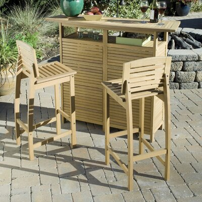 Home Styles Bali Hai 3 Piece Bar Set in Teak at Sears.com